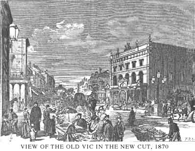 View of The Old Vic from 1870